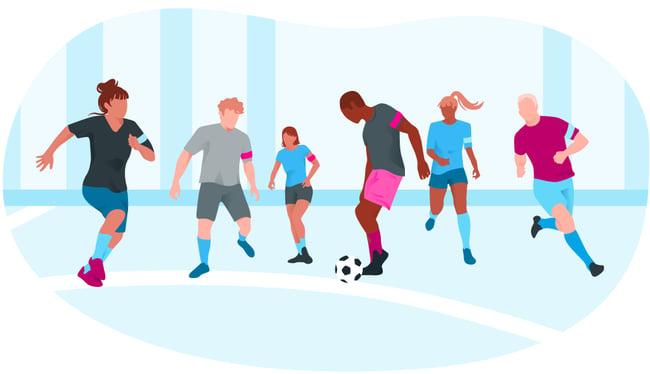 Salariés jouant au Football